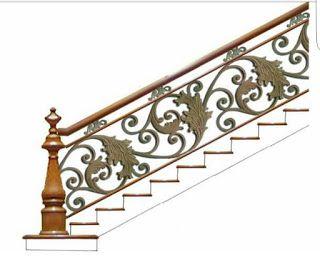 motif dan desain railing tangga besi tempa klasik
