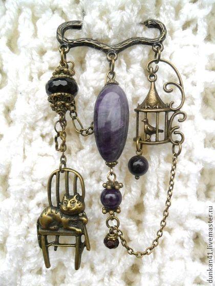 """Handmade brooches.  Fair Masters - handmade brooch """"Temptation.""""  Handmade."""