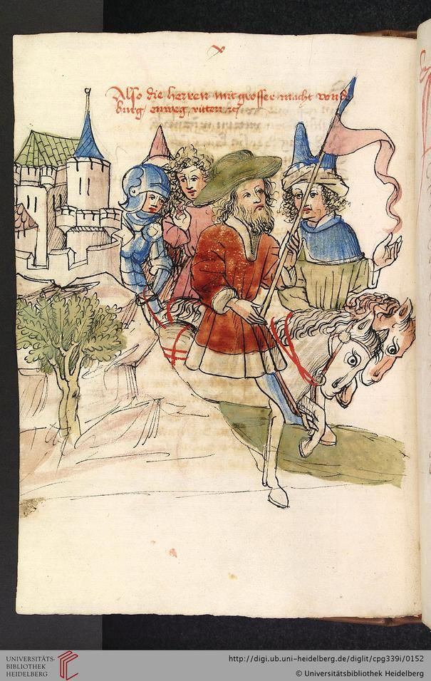 Cod. Pal. germ. 339  Wolfram von Eschenbach  Parzival (Band 1)   Hagenau - Werkstatt Diebold Lauber, um 1443-1446