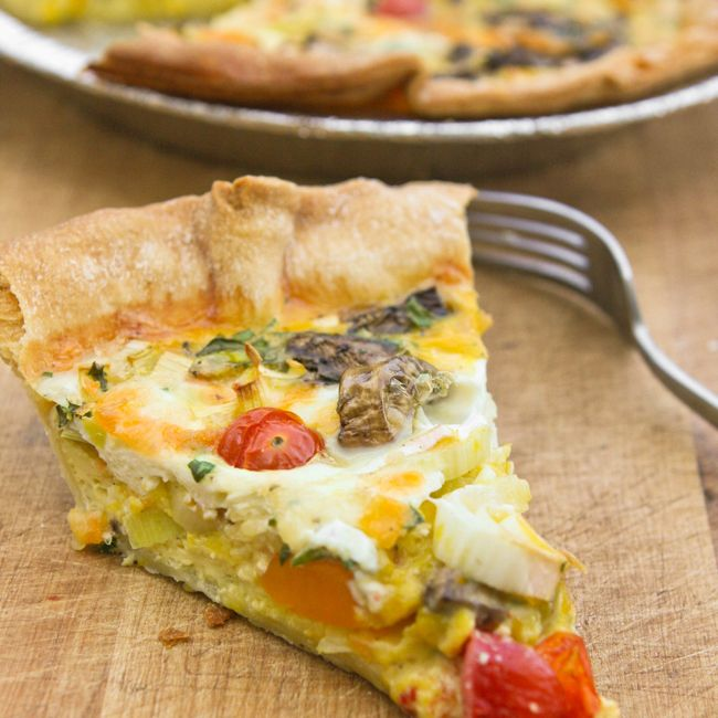 for a delicious quiche to throw together for Mother's Day? Leeks ...