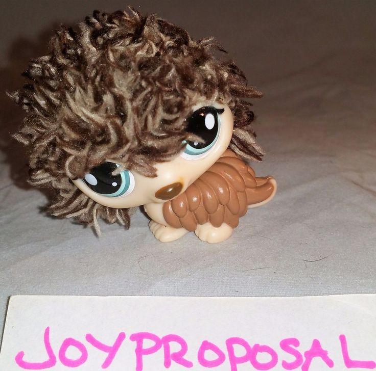 Littlest Pet Shop #2423 Brown Furry Hedgehog Porcupine Green Eyes LPS Figure Toy…