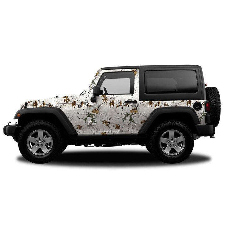 Realtree Camo Jeep/SUV Vehicle Wrap Xtra Snow
