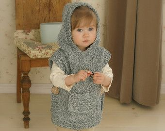 *** This listing is only a PDF PATTERN in ENGLISH and not a finished product ***  This is a crochet pattern for hooded fox poncho Max. Perfect for a