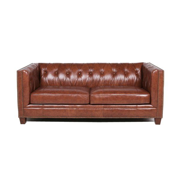 Katy Leather Chesterfield Sofa Reviews Birch Lane Leather