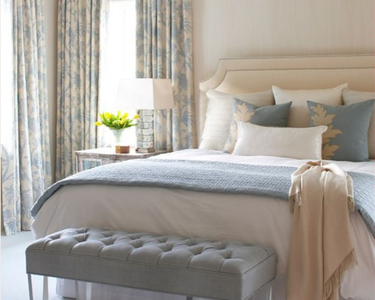117 best bedroom decor ideas images on pinterest bedroom for Blue and white master bedroom ideas