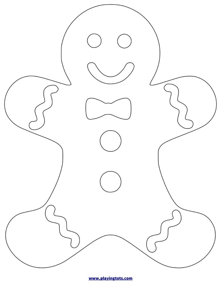 It's just a photo of Genius Printable Gingerbread Man
