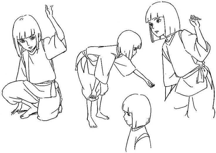 Film: Spirited Away (千と千尋の神隠し) ===== Character Design - Model Sheets: Haku…