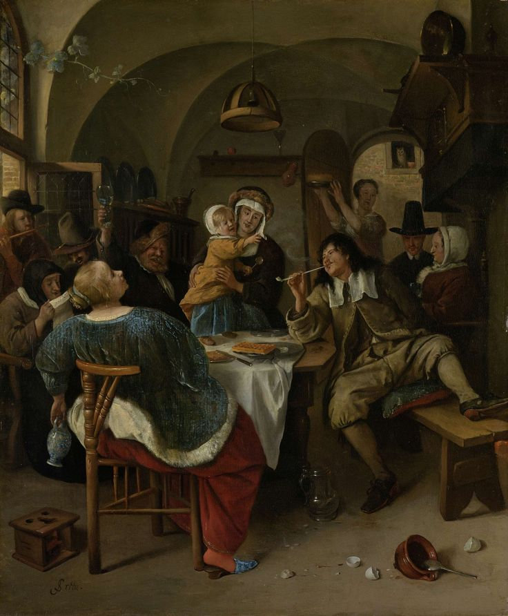 Family sceneFamilietafereel, Jan Havicksz. Steen, 1660 - 1679