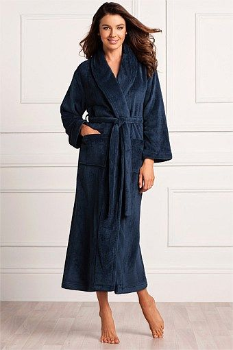 navy blue dressing gown