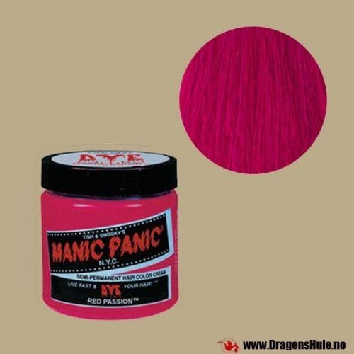 En krukke med 118ml semi-permanent hårfargekrem av merket Manic Panic. Røres/rystes godt før bruk. Semi-permanent betyr at fargen vaskes gradvis ut i løpet av noen ukers tid.  Denne fargen skinner under Ultrafiolett lys! (Også kjent som UV-lys eller Blacklight)  Vær oppmerksom på at slik farge er annerledes enn det du får kjøpt f.eks. i dagligvarebutikker. FØR du farger noe som helst: Les om hvordan slike hårfarger...