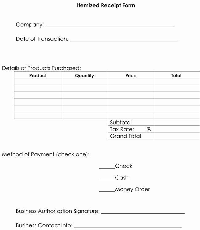 Lost Receipt Form Template Elegant Itemized Receipt Template 10 Samples Formats For Word Receipt Template Invoice Template Invoice Example