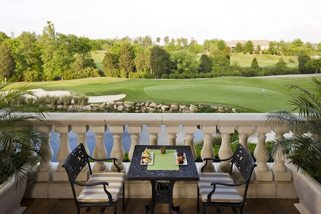 To sit here, and have breakfast...heaven.  The Ballantyne Hotel and Lodge in Charlotte, NC.