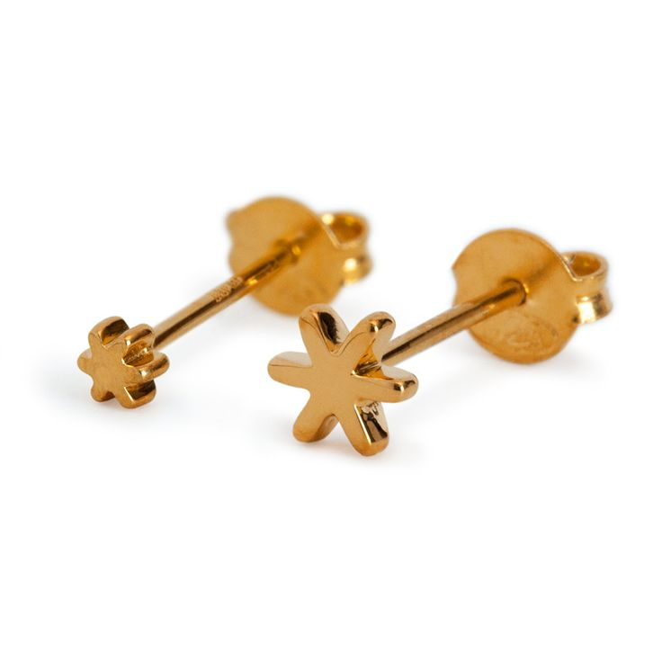 SNOWFLAKES · EAR STUDS · SMALL GOLD PLATED & BIG GOLD PLATED