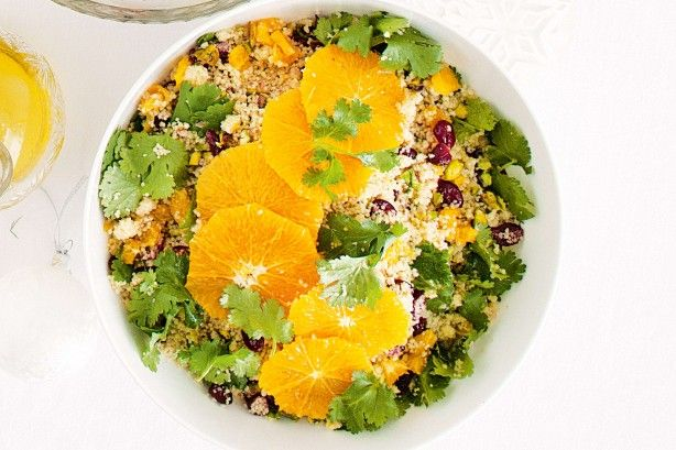 This jewelled couscous salad is a picture perfect salad for the Christmas table.