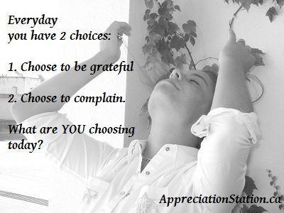 Who and what are you grateful for today?  #30DayGratitudeChallenge  http://AppreciationStation.ca