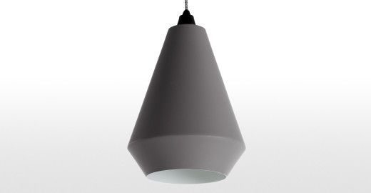 Kirkby Conical Shade, Cool Grey | made.com