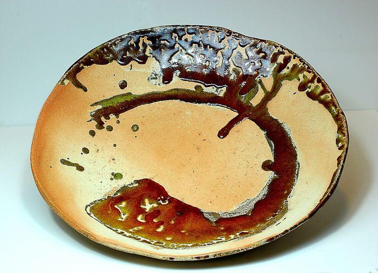 Pirjo Lautiainen, anagama fired platter, diameter 45 cm, 2016