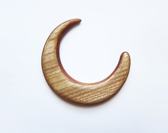 Asymetric wooden moon  hair moon fork bun by forEVAhairforks