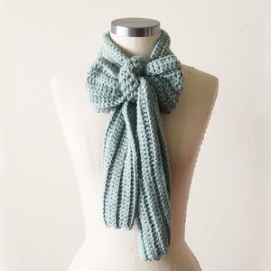 sea foam knot scarf