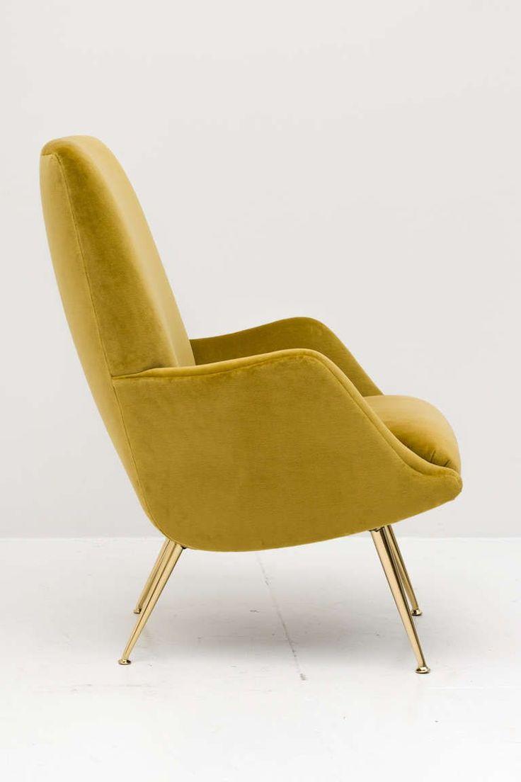 Carlo de Carli; Brass-Legged Armchair for Singer & Sons, 1950s.