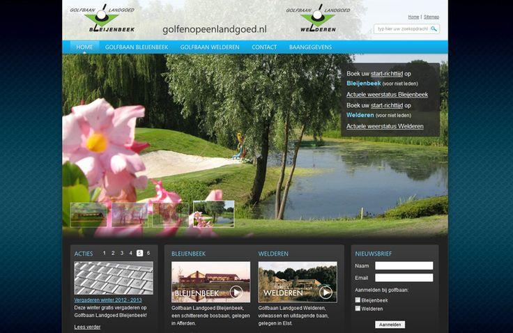 Golfen op een landgoed. http://cowpunks.nl/portfolio_webdesign_websites_webapplicaties_onlinemarketing/golfen_op_een_landgoed