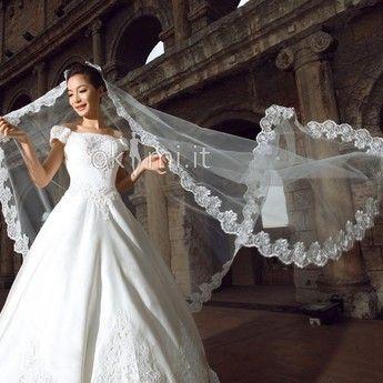 Waltz Velo da Sposa Uno Velo Cada Tulle All'Aperto