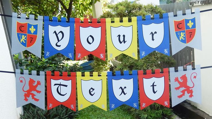 Knights Party Banner - Knight Birthday Party printables
