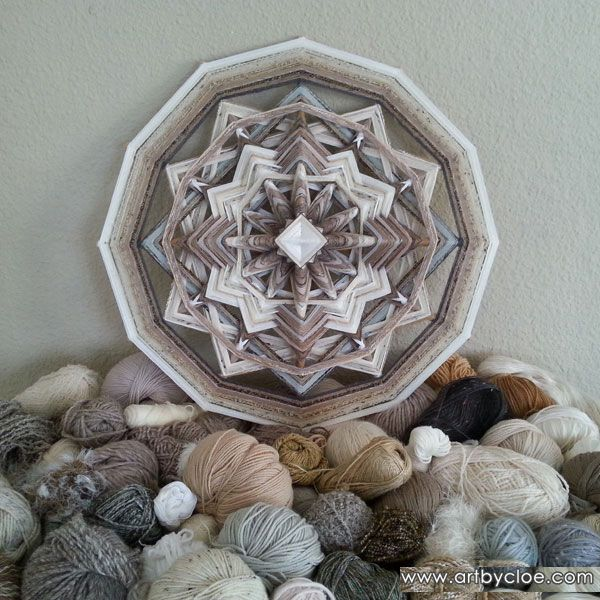 Mandala Wall Art for sale, created by Cloe Collette, fiber artist living on Mallorca. Inspired by nature and spirit!