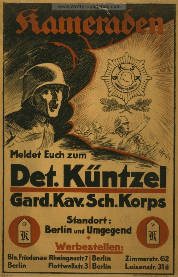 German WW1  Poster - This is the first ww1 poster i ever saw, it encouraged me to fight