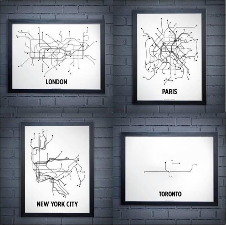 Reddit subway route maps of London