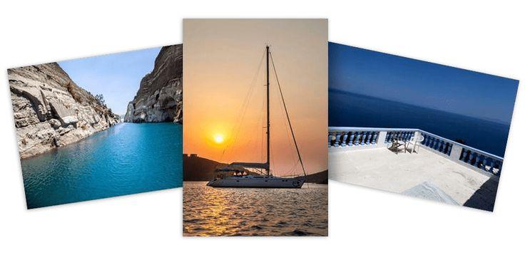 Vacanze in Grecia a vela nel Dodecaneso in barca di 16 metri (8 posti, 4 bagni): crociere, charter alla scoperta delle isole e luoghi piu belli della Grecia.