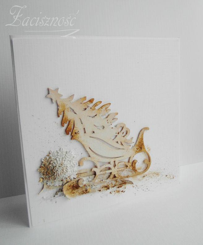 Ręcznie robiona kartka bożonarodzeniowa/ Handmade Christmas card