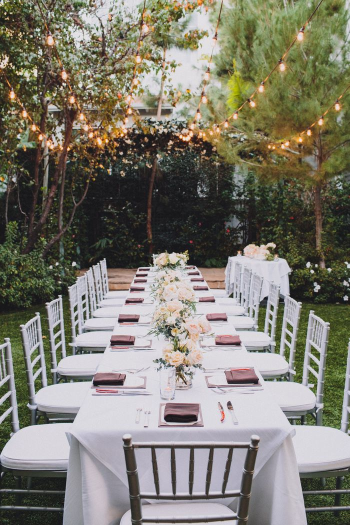 Megan And Steve S Hollywood Hotel Wedding Small Outdoor Wedding Small Intimate Wedding Small Wedding Receptions
