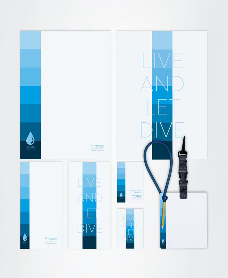 AQUA Diving Center Visual Identity