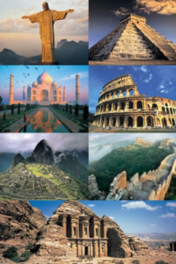 the seven wonders of the world - 520×794