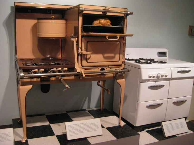 Bygone Living: Americau0027s Kitchens Exhibition. A Chambers Fireless Gas Range  From 1920 And A