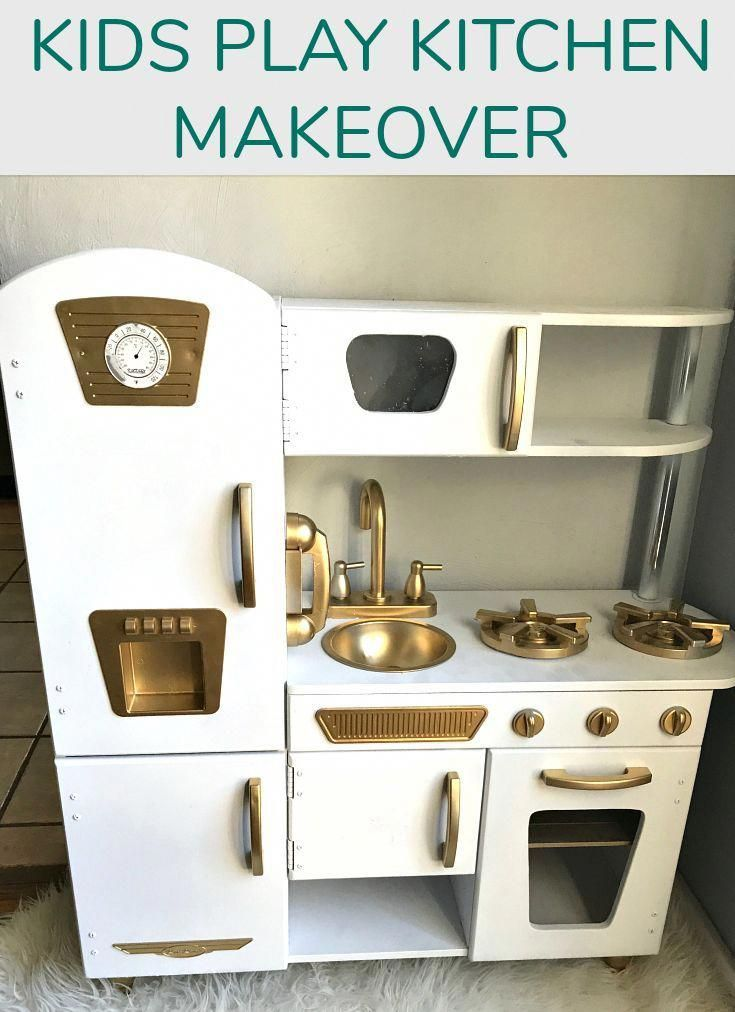 Check out my latest DIY project - a kids play kitchen makeover