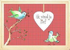 Ik vind je lief! Illustratie Wilmi van Kempen. Opmaak By Kris