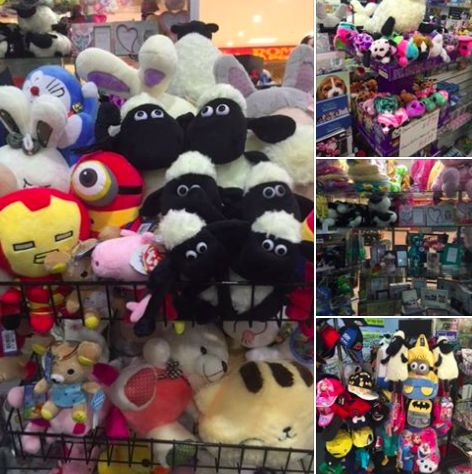 Newest and latest pre-Xmas toys, gifts and bags have arrived in store. Spoil your little ones and friends now! Shaun the Sheep, Beanie Boos, Minions and many more cute and fluffy toys.