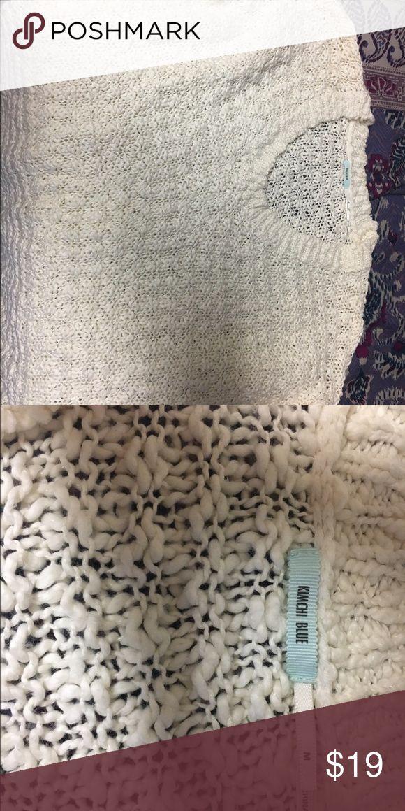 Urban Outfitters Cream Sweater Size: Medium Brand: Kimchi Blue Condition: Never worn Color: Cream Price Negotiable! Urban Outfitters Sweaters Crew & Scoop Necks