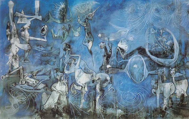 Roberto Matta--Surrealist, more political than psyche and dreams