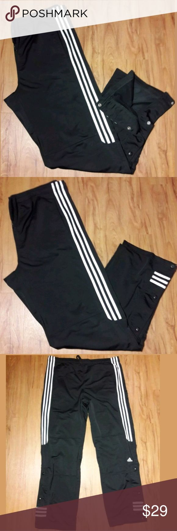 Mens Adidas Warm-Up Track Pants Adidas Mens Large Warm-Up Half Snap Black Satin Athletic Track Pants VTG 2003  Pre-owned in Excellent used condition with minor flaws.   Please be sure to view all images before purchasing.  Thank you for Looking & Sharing Happy Poshing😄💗 adidas Pants Sweatpants & Joggers