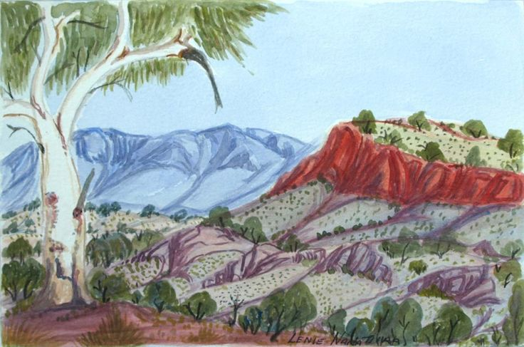 West from Areyonga by Lenie Namatjira