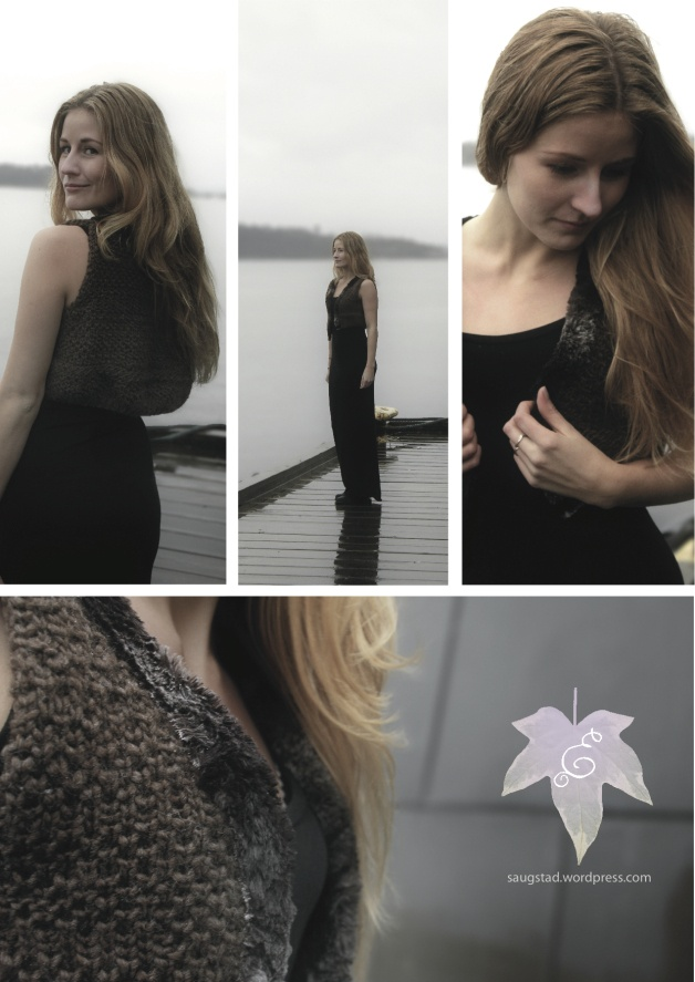 Maxi Dress with Knitted Vest  saugstad.wordpress.com