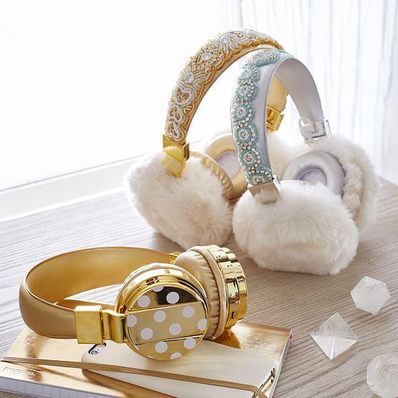 Gold Dot Bluetooth Headphones | PBteen