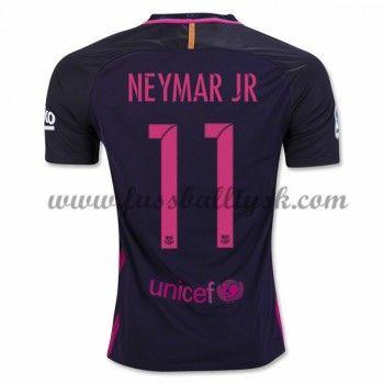 La Liga Fussball Trikots Barcelona 2016-17 Neymar Jr 11 Auswärtstrikot Kurzarm