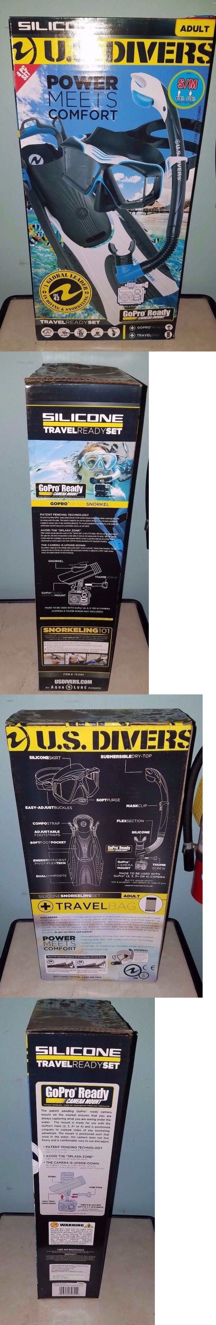 Snorkels and Sets 71162: U.S. Divers Gopro Ready 4Pc Snorkel Set, Adult Small, Blue, Black, White, Nib -> BUY IT NOW ONLY: $30 on eBay!