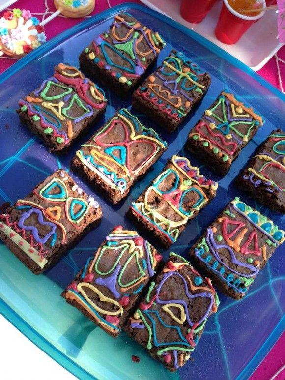 Luau brownies | Catchmyparty.com