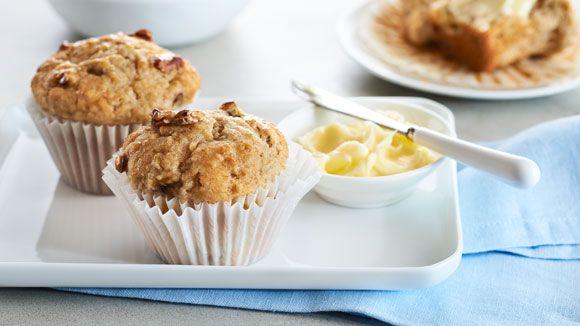 Muffins du matin aux bananes et pacanes