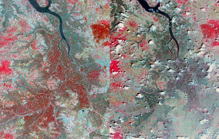 North Korea drought as seen from ASTER
